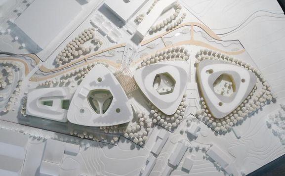 A maquete do projeto hospital de Esch-sur Alzette