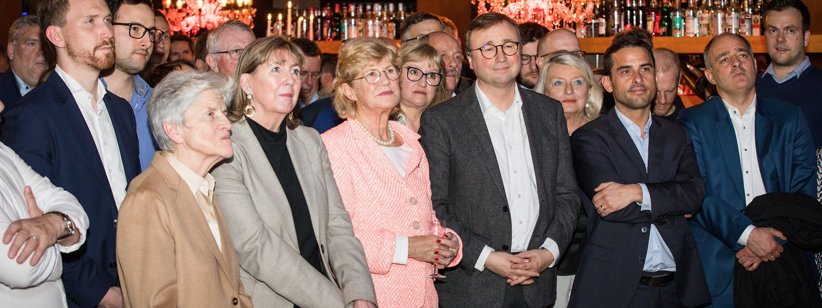 Les figures du parti étaient au premier rang : Colette Flesch, Lydie Polfer, Simone Beissel, André Bauler, Max Hahn et Patrick Goldschmidt.