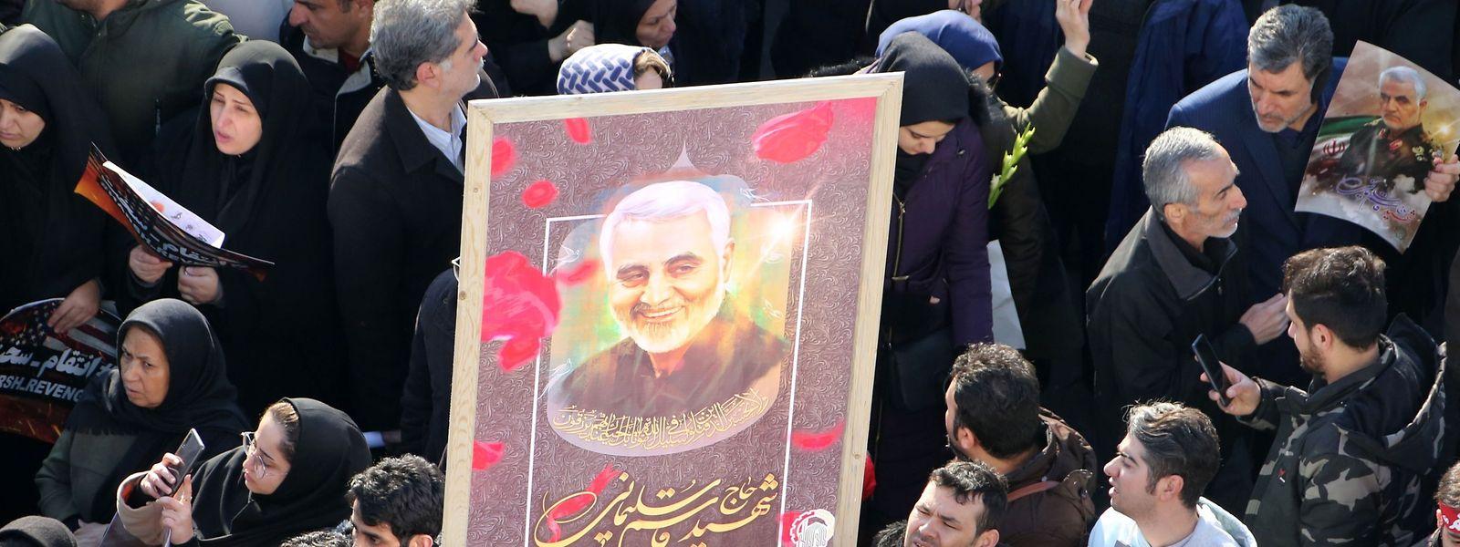 Eine Trauerkundgebung in Teheran.