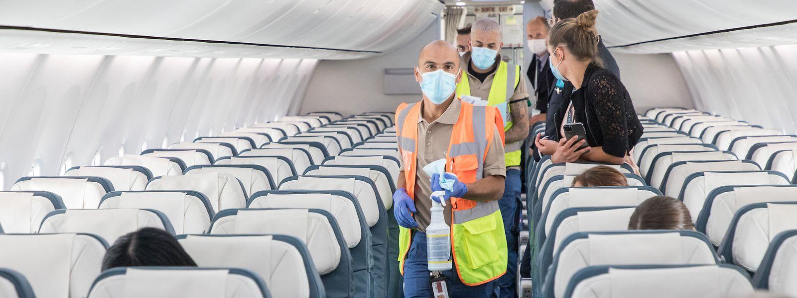 Pour l'heure, la priorité est d'assurer la qualité sanitaire des vols sur la compagnie nationale.