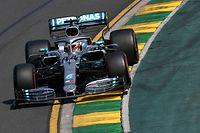 """16.03.2019, Australien, Melbourne: Motorsport: Formel 1, Großer Preis von Australien, 3. Freies Training.  Mercedes-AMG-Pilot Lewis Hamilton aus Großbritannien auf der Rennstrecke. (zu dpa """"Hamilton auch im Abschlusstraining Schnellster in Melbourne"""") Foto: Julian Smith/AAP/dpa +++ dpa-Bildfunk +++"""