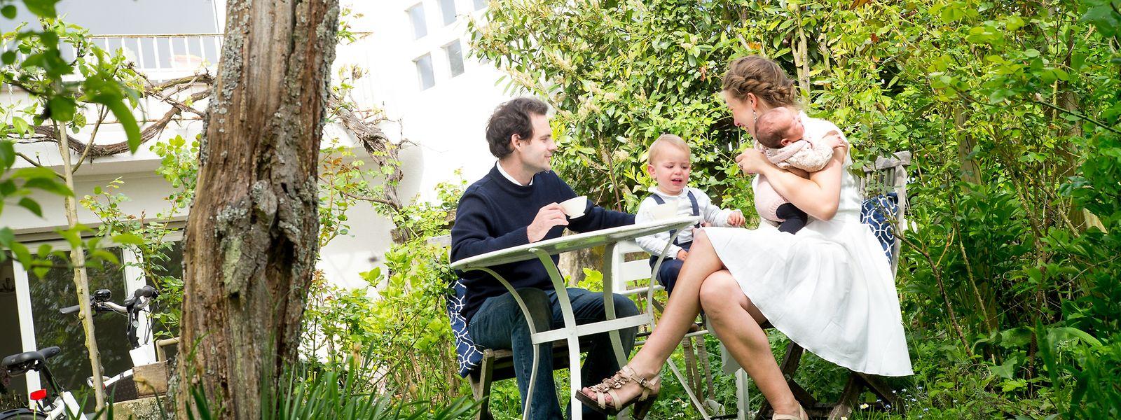 Theresa Baumgärtner und ihre Familie lieben das Leben in der Stadt.