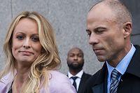 Stephanie Clifford und ihr Anwalt Michael Avenatti.