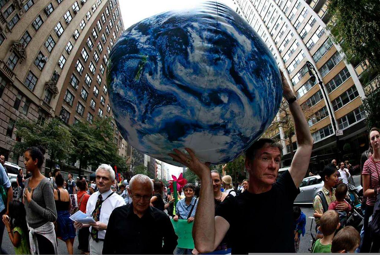 In vielen Städten gingen am Sonntag Menschen auf die Straße, um sich für eine bessere Klimapolitik einzusetzen.