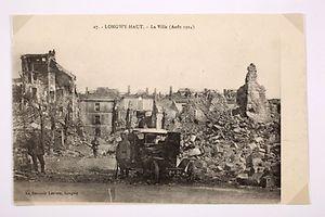 Bilder der zerstörten Stadt Longwy.