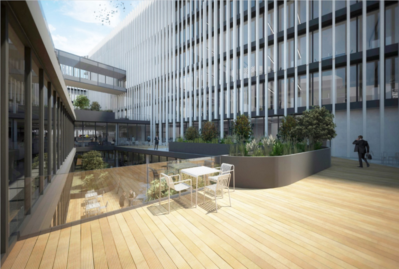So soll das neue Hauptquartier der Post in der Stadt Luxemburg aussehen.