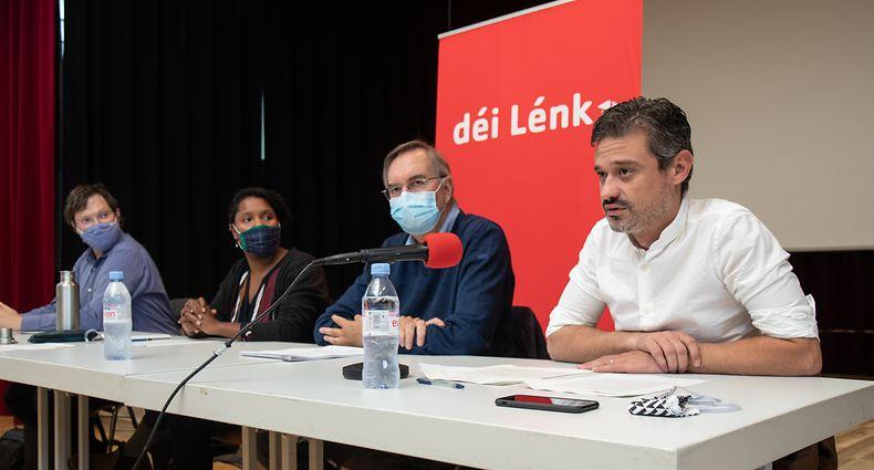 Lokales,PK.Rentrée Déi Lénk Stad.Ana Correia da Veiga. Foto: Gerry Huberty/Luxemburger Wort
