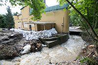 Inondation 09-06-2018 / MŸllerthal / Photo: Blum L.Cigalon, der Bach heute Morgen