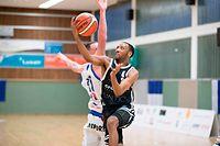 Miles Jackson-Cartwright (T71 r.) gegen Clancy Rugg (Basket Esch l.) / Basketball, Total League Maenner, Erstes Halbfinale, Basket Esch - T71 / Esch / 03.04.2019 / Foto: Christian Kemp