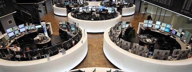 Der Handelsraum der Deutschen Börse in Frankfurt.