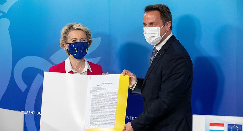 Ursula von der Leyen nahm Luxemburg Aufbaupläne an