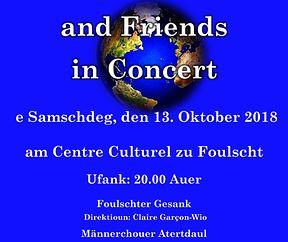 Foulschter Gesank and Friends in Concert