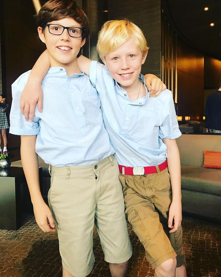 Gute Freunde - auch wenn es manchmal Streit gibt: Prinz Gabriel (l.) und Bruder Noah.
