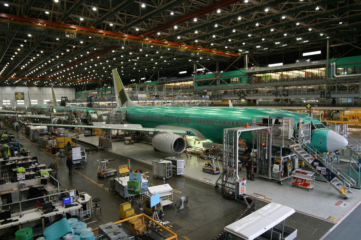 Im 737-Werk in Renton bei Seattle werden jeden Monat 42 Maschinen fertiggestellt. Meistens sind es 737-800.
