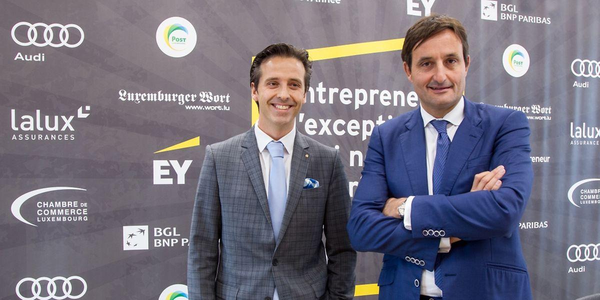 Yves Even (EY) et Nicolas Buck (Fedil) ont présenté les lauréats.