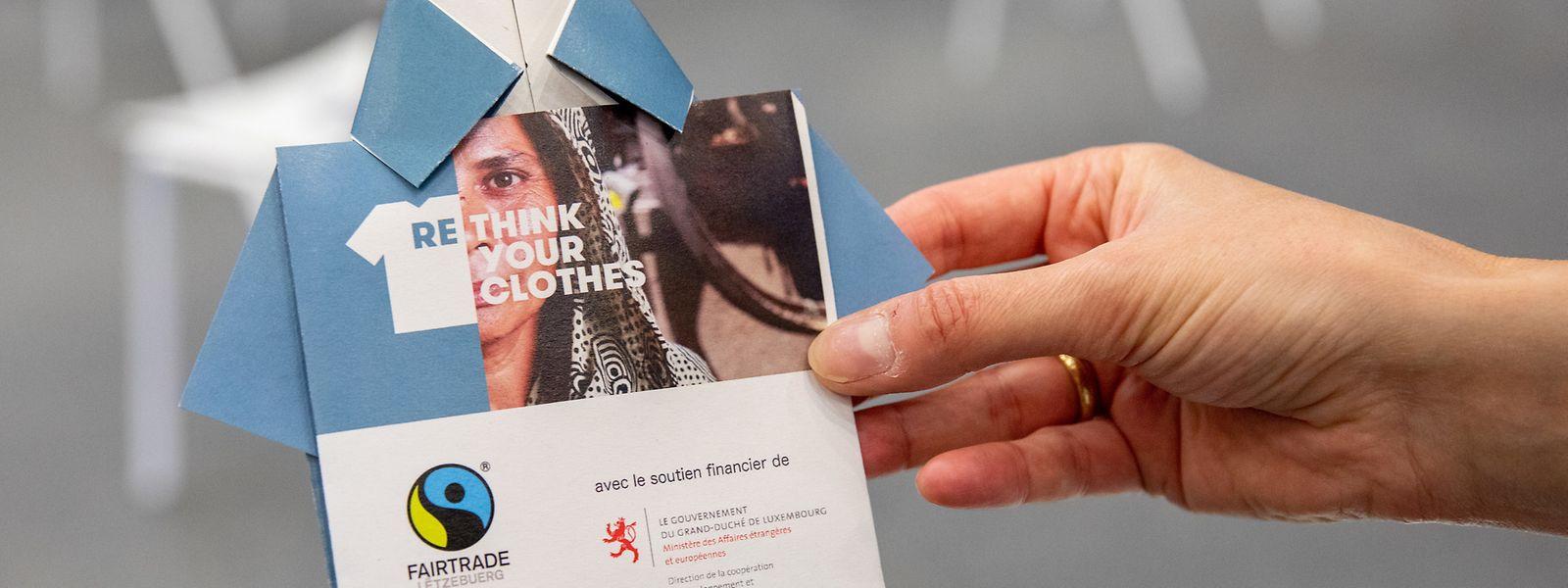 """Die Kampagne """"Rethink your clothes"""" fordert den Verbraucher auf, anders Kleider zu konsumieren."""