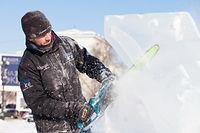 Les intervenants d'Ice & Art sont des habitués de ce type de performance. Ils participent même à des compétitions de sculpture sur glace