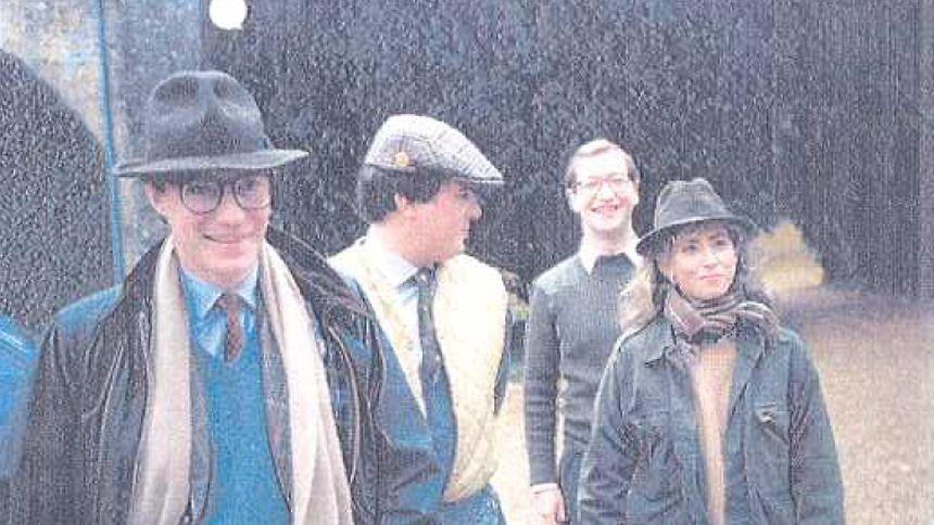 Der Mann mit Hut, Schal und Brille: Mit diesem Foto belegt Prinz Jean seine Teilnahme an der Jagd am 9. November 1985 - dem Tag an dem ihn der Zeuge Beffort am Findel gesehen haben will.