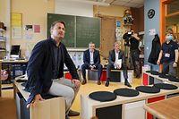 Visite de l'école fondamentale de Kehlen par le premier ministre, Xavier Bettel et du ministre de l'éducation, Claude Meisch dans le cadre de la rentrée scolaire