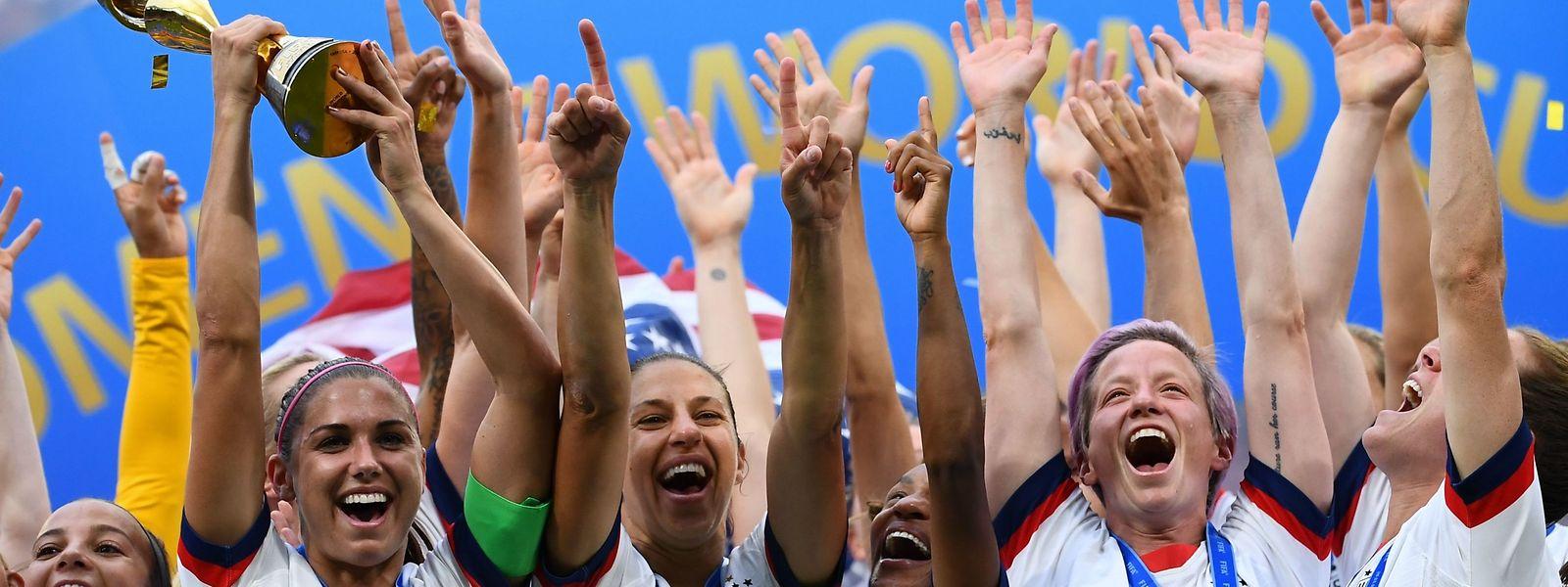 Im Juli hatten die US-Fußballerinnen zum vierten Mal den WM-Titel gewonnen.