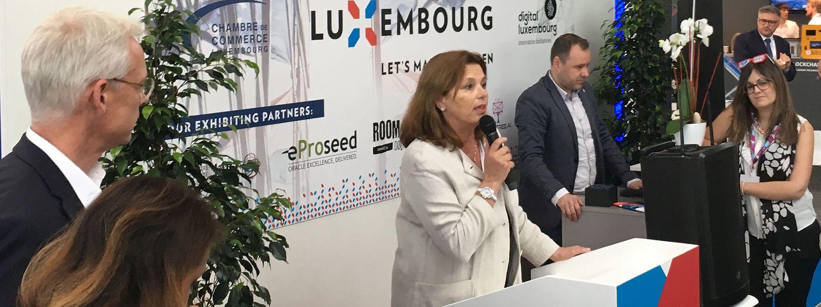 Sous les yeux du directeur des Deutsche Messe, la directrice de la House of start-ups, Karin Schintgen, a assuré que le Luxembourg serait là l'année prochaine. Encore plus ambitieux.