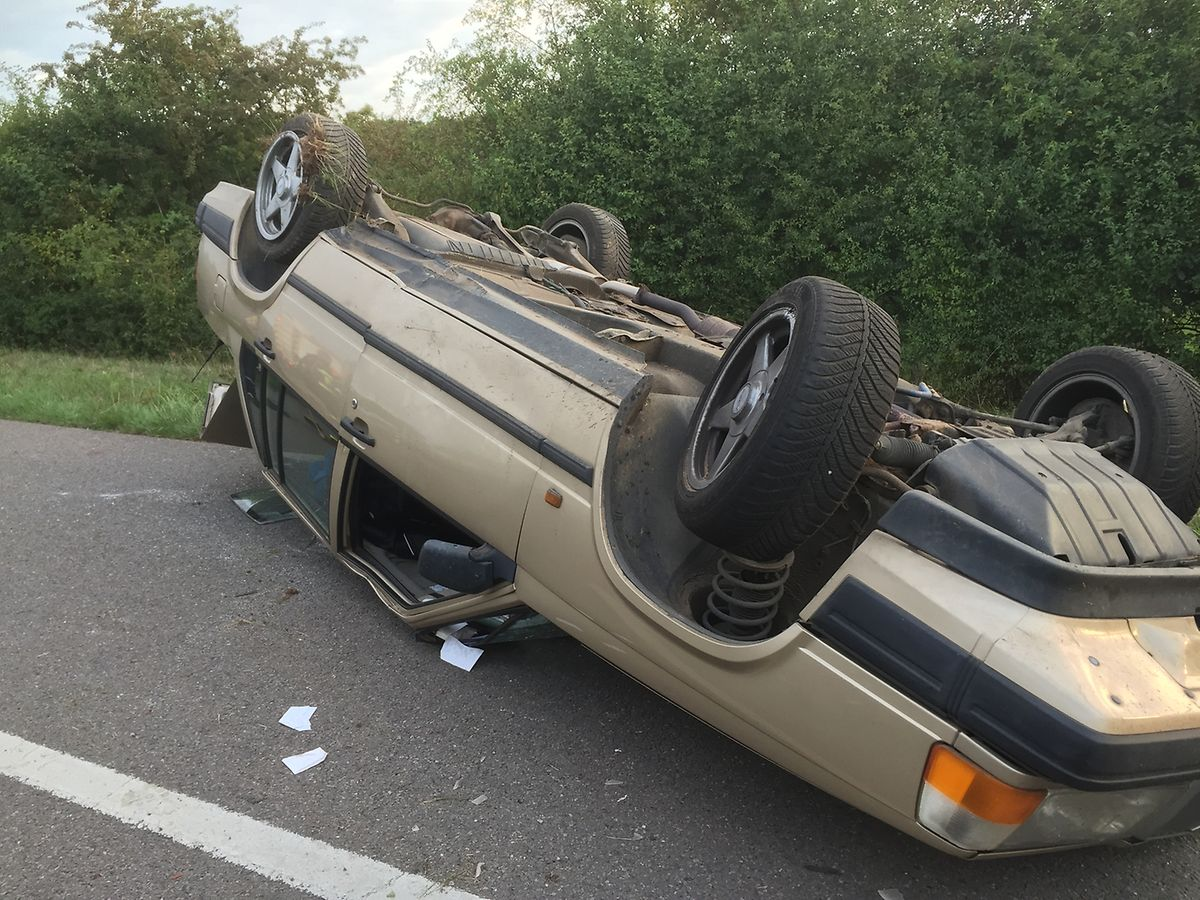 Der Fahrer dieses Wagens hatte Glück im Unglück.