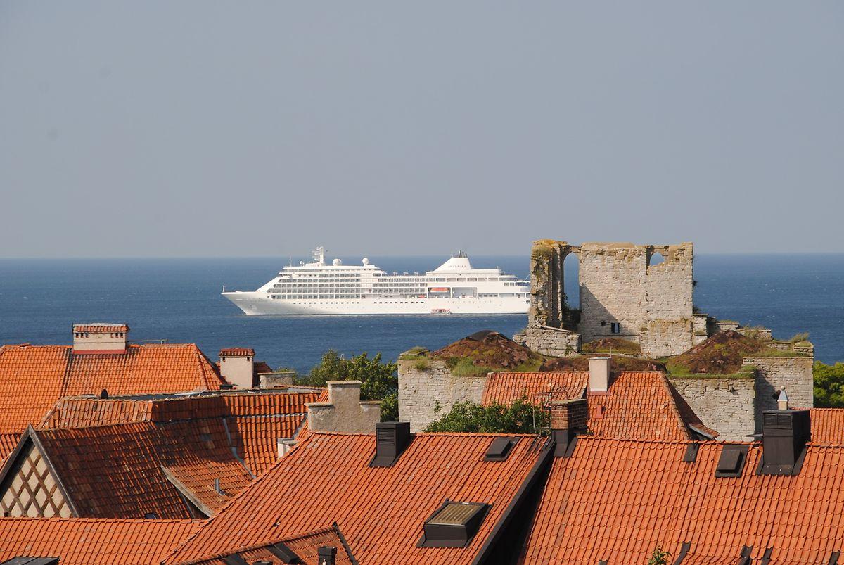 Blick auf das Meer vom Domberg.