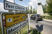 Lokales, Covid-19 Test, P&R Belval, large scale testing,  Esch Alzette, Foto: Guy Wolff/ Luxemburger Wort