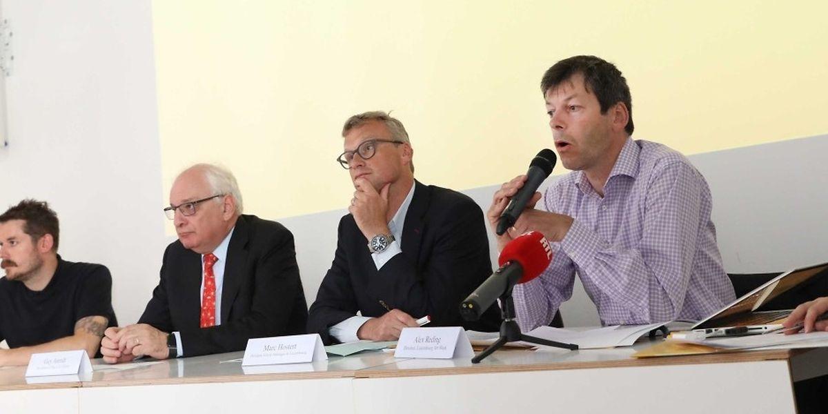 Conférence de presse de la Luxembourg Art Week 2017.