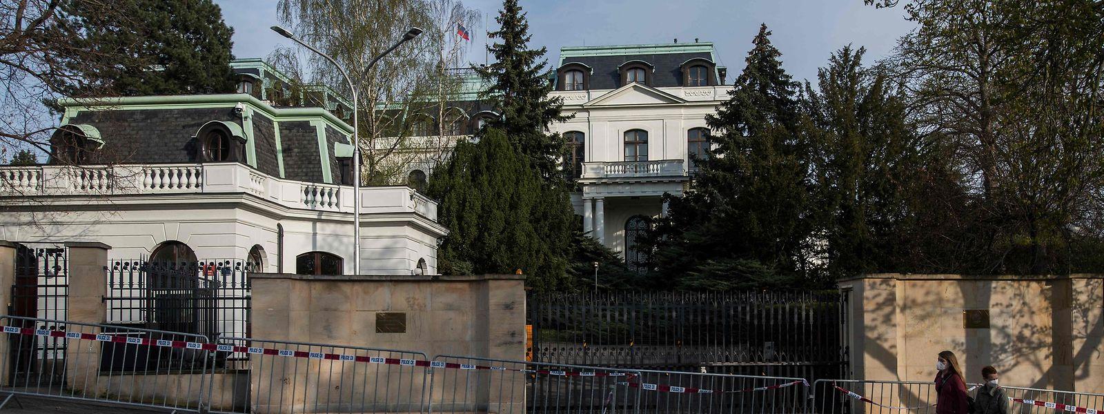 Das russische Botschaftsgebäude in Prag.