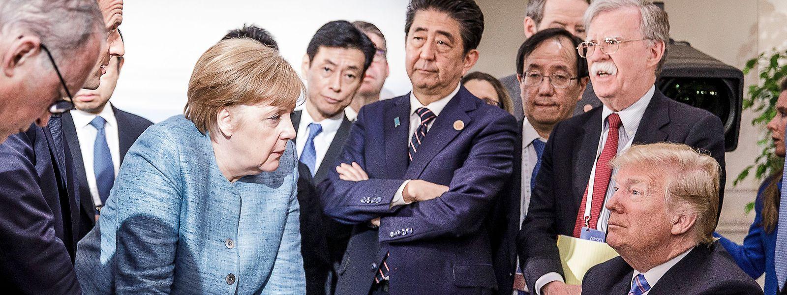 Trump verließ den G7-Gipfel in Kanada vorzeitig.