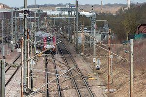 Am Unfallort war am Donnerstag ein Gleis gesperrt. Der Zugverkehr rollte über eine Umleitung.