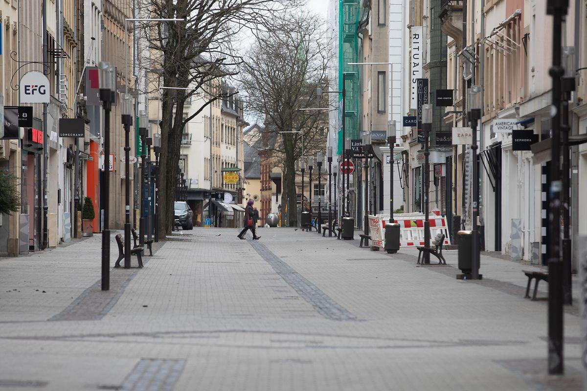 Die Hauptstadt am 29. März: In der Innenstadt sind kaum noch Fußgänger unterwegs.