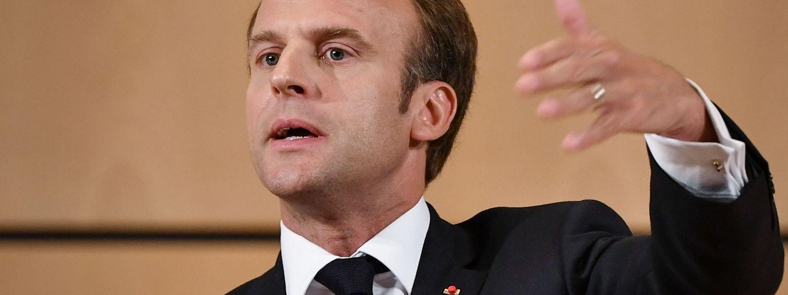 Der französische Präsident Macron war am Dienstagabend im französischsprachigen Fernsehen zu Gast.