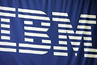 San Francisco, UNITED STATES: The IBM logo is pictured at the RSA Conference 2007 in San Francisco, 07 February 2007.  AFP PHOTO/GABRIEL BOUYS (Photo credit should read GABRIEL BOUYS/AFP via Getty Images)