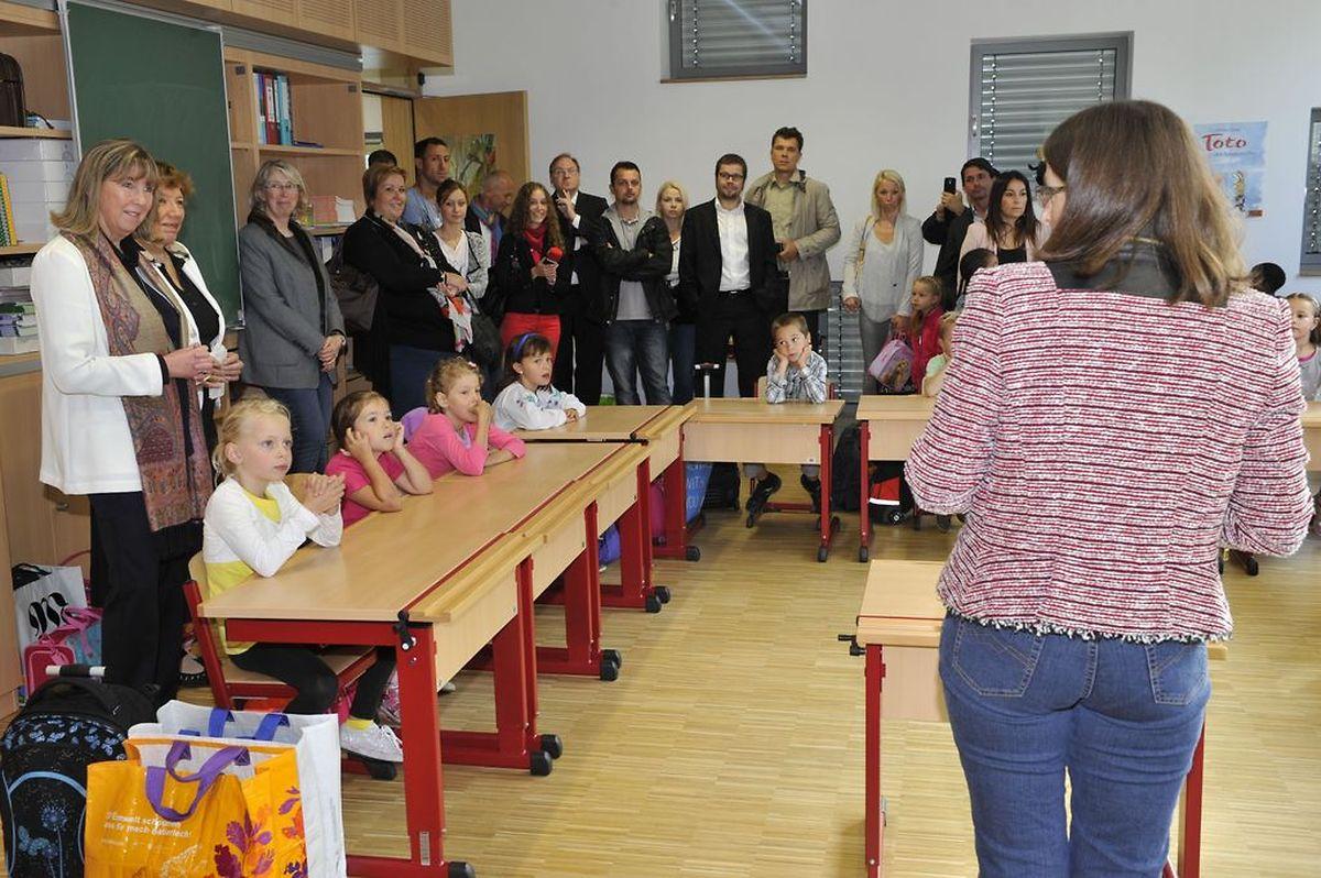 Lundi matin, le collège échevinal a rendu visite aux classes des cycles 2 à 4 de l'école fondamentale de Beggen.