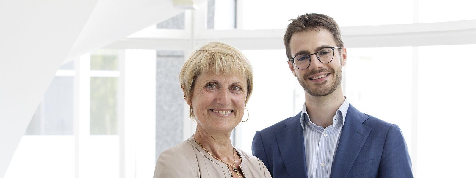 Preisträger Edoardo Stoppioni und Hélène Ruiz Fabri vom MPI Luxemburg.