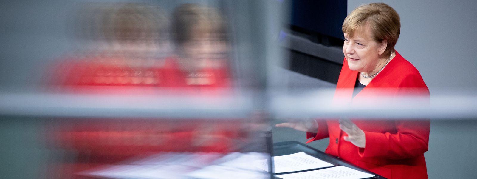 Merkel gab im Bundestag eine Regierungserklärung zum bevorstehenden EU-Gipfel ab.