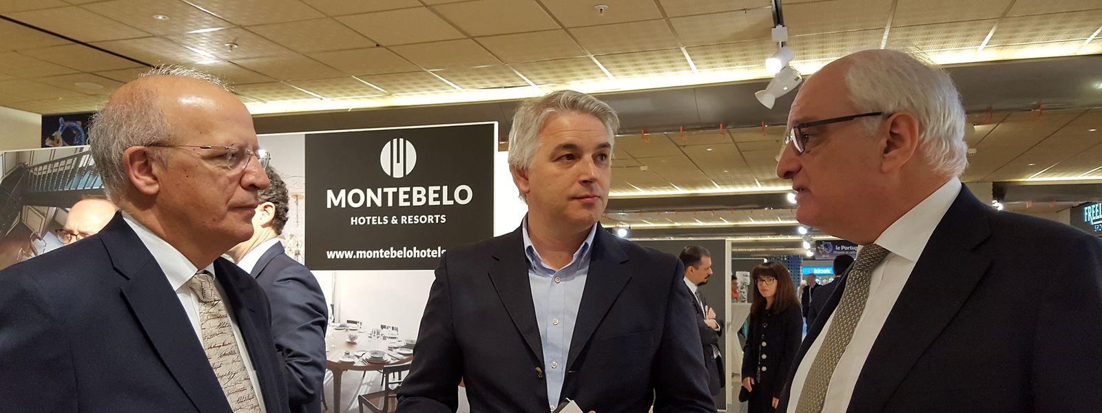 O ministro dos Negócios Estrangeiros português inaugurou a mostra, acompanhado pelo secretário de Estado da Cultura do Luxemburgo