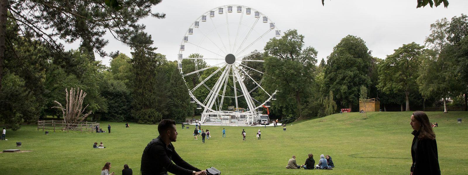Das Riesenrad verfügt über 36 Gondeln für jeweils sechs Personen.