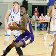 13 Basketball Total League Meisterschaft der Maenner Spielzeit 2017-18 zweites Halfinale zwischen Basket Esch und Amicale Steinsel am 15.04.2018 Shavon COLEMAN (15 Amicale) und Jordan HICKS (9 BE)