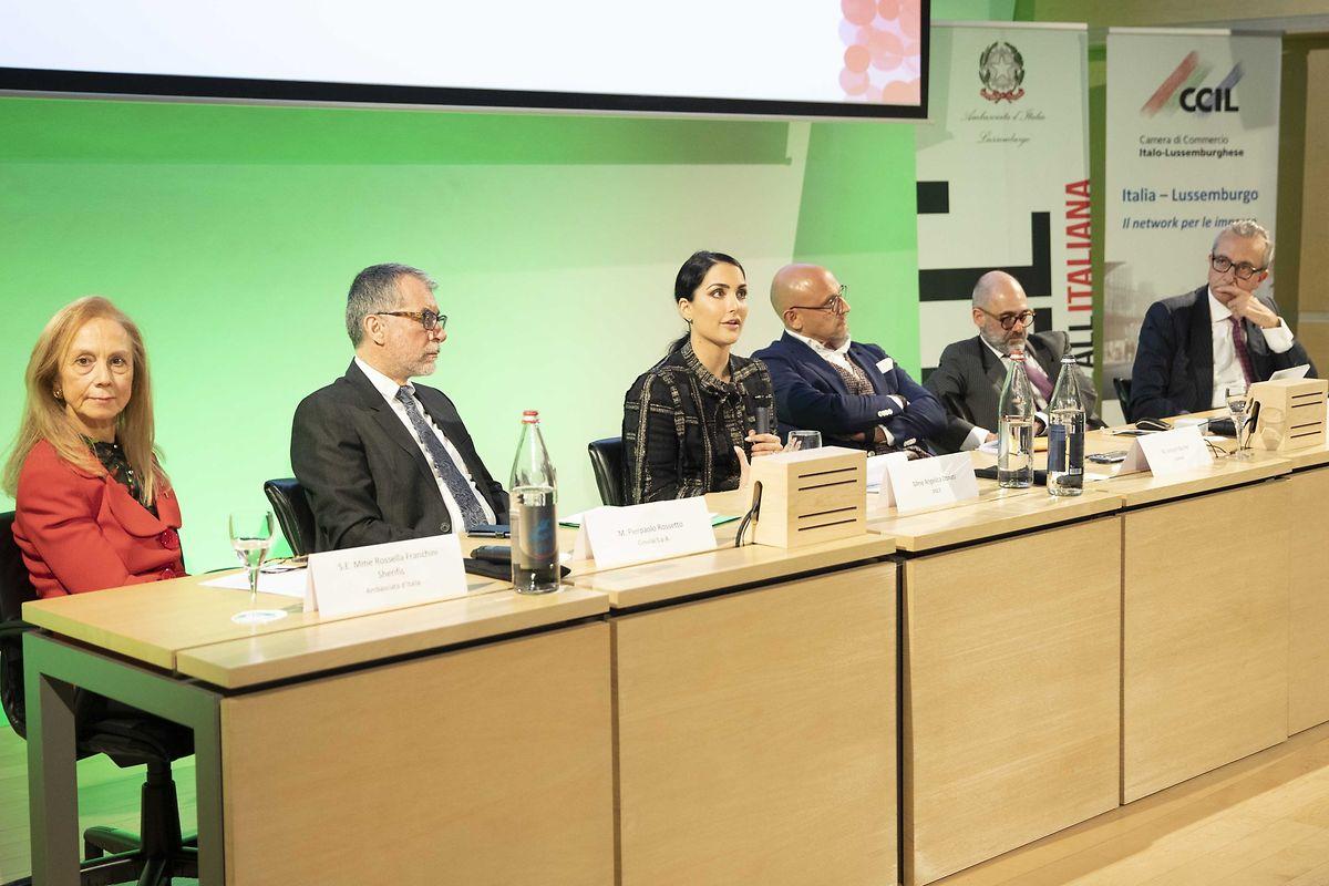 De g. à d.: Rossella Franchini Sherifis, Pierpaolo Rossetto, Angelica Donati, Vincent Bechet, Ascanio Martinotti, Fabio Morvilli