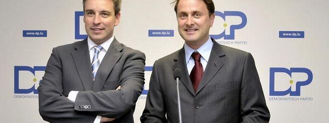 """DP-Fraktionschef Claude Meisch (l.) plädiert für einen """"Neuanfang mit neuen Leuten und neuen Ideen""""."""