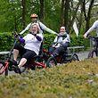 """Telecran, Rehazentrum Kirchberg, Stiftung Wonschstär: 44-jährige an ALS erkrankte Frau nimmt an inklusivem Fahrrad- Rennen """"Trans Ardennes"""" von Lüttich nach Luxemburg teil Foto: Anouk Antony/ Luxemburger Wort"""