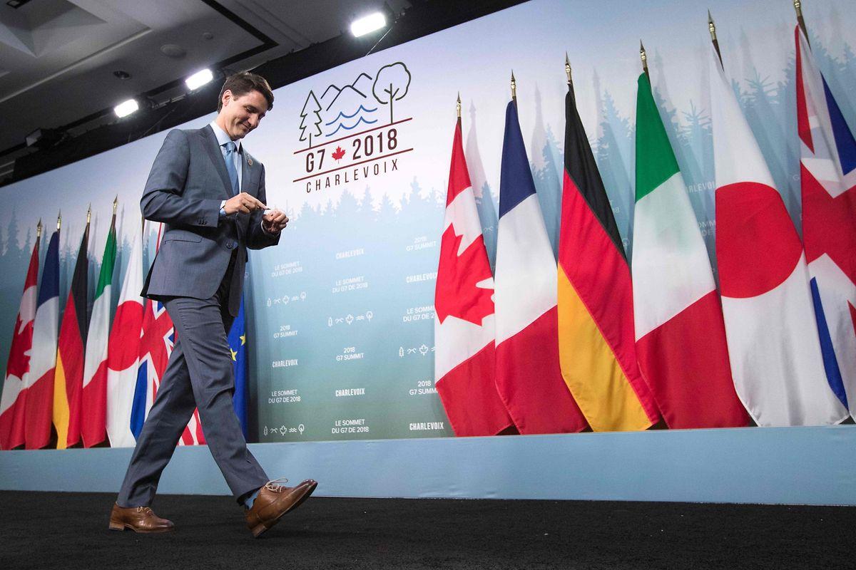 """Os líderes do G7 assinaram um texto no qual defendem um comércio internacional com """"regras"""" e se comprometem a tentar """"reduzir as barreiras alfandegárias"""""""