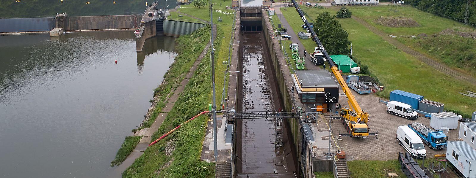 Bis zum 16. Juni werden die Schleusenkammern in Koblenz, Lehmen, Müden, Sankt Aldegund und Enkirch trockengelegt, saniert, geprüft und gereinigt.