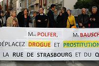 Lokales, Protestaktion gegen Drogenhandel, quartier gare, Bahnhofviertel, rue de Strasbourg, Foto: Anouk Antony/Luxemburger Wort