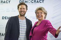 Die frühere EU-Kommissarin Viviane Reding und der grüne Europa-Abgeordnete Jan Philipp Albrecht.