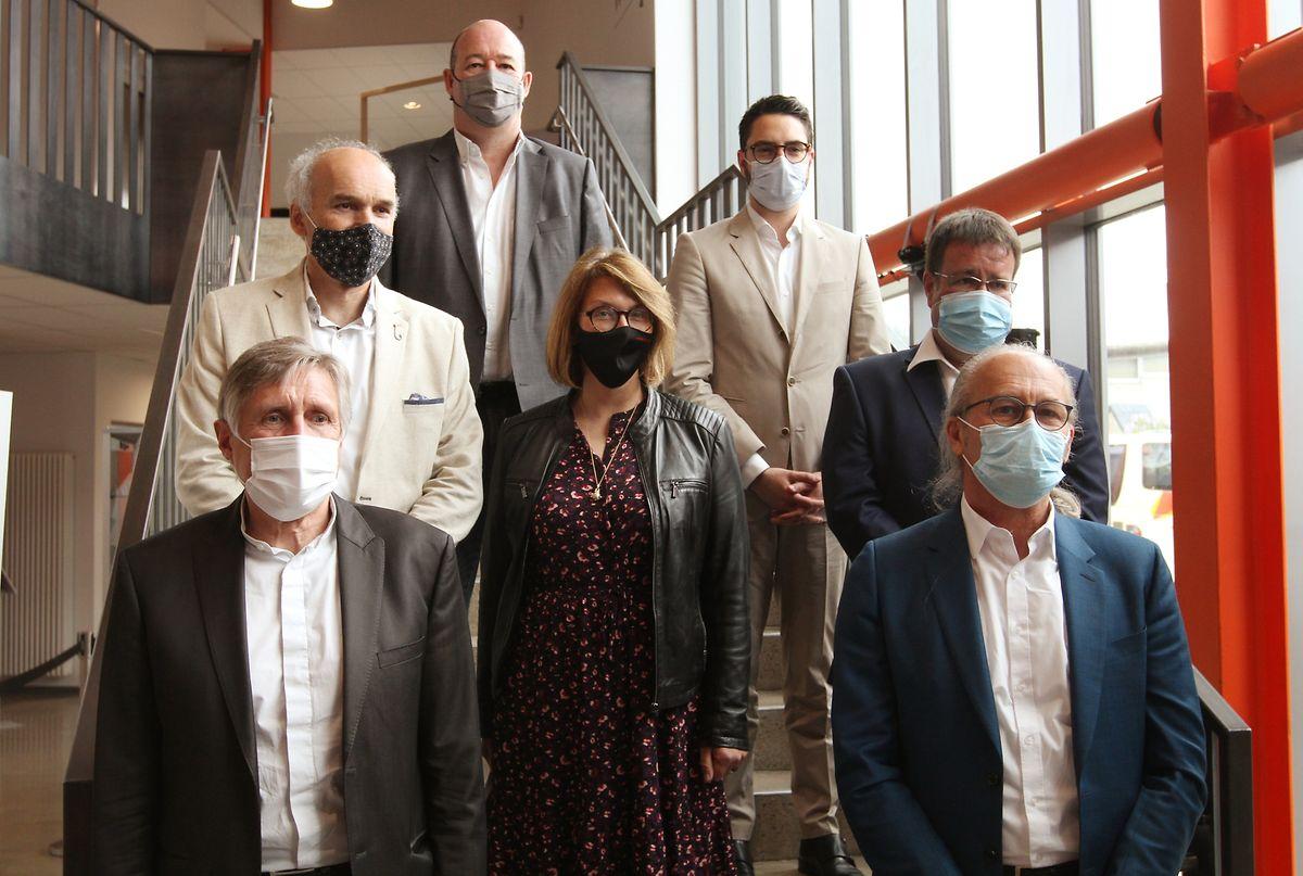 Die beiden Minister François Bausch und Claude Turmes sowie die fünf Bürgermeister der zukünftigen Nordstadgemeinde stellten das neues Mobilitätskonzept vor.
