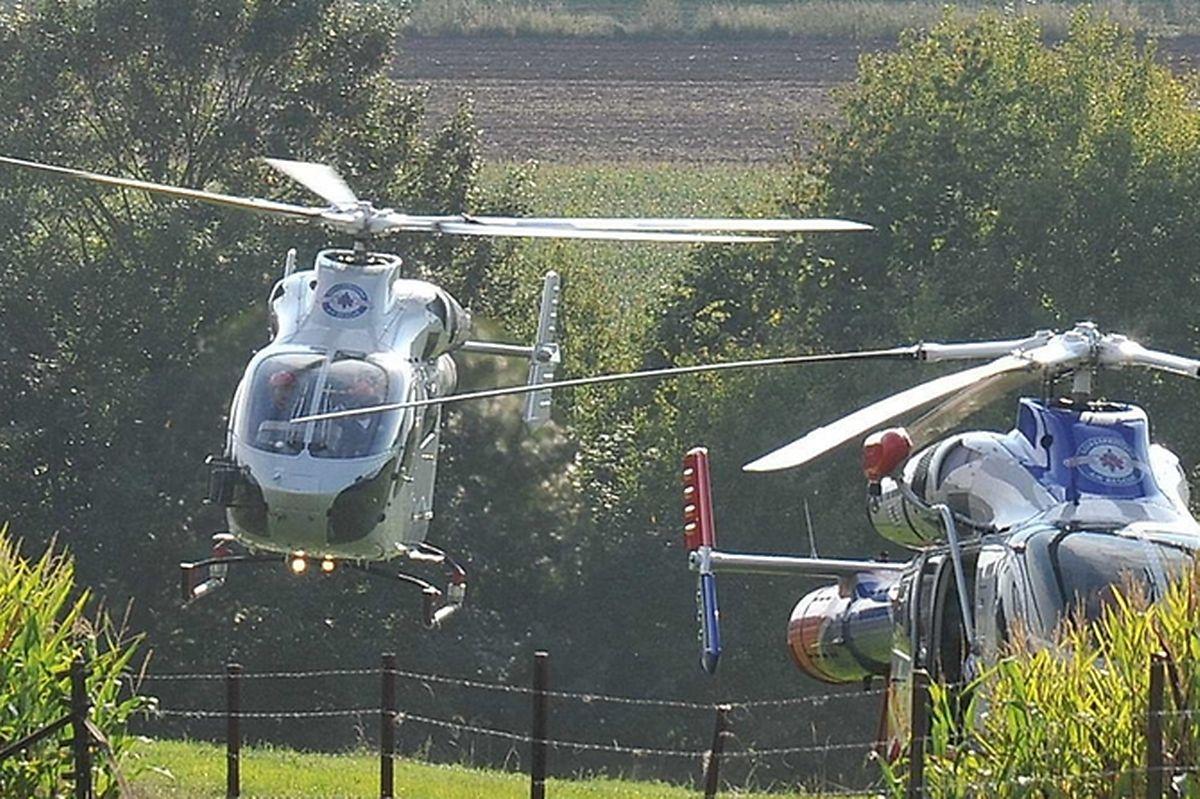 Zwei Hubschrauber der LAR waren im Einsatz.